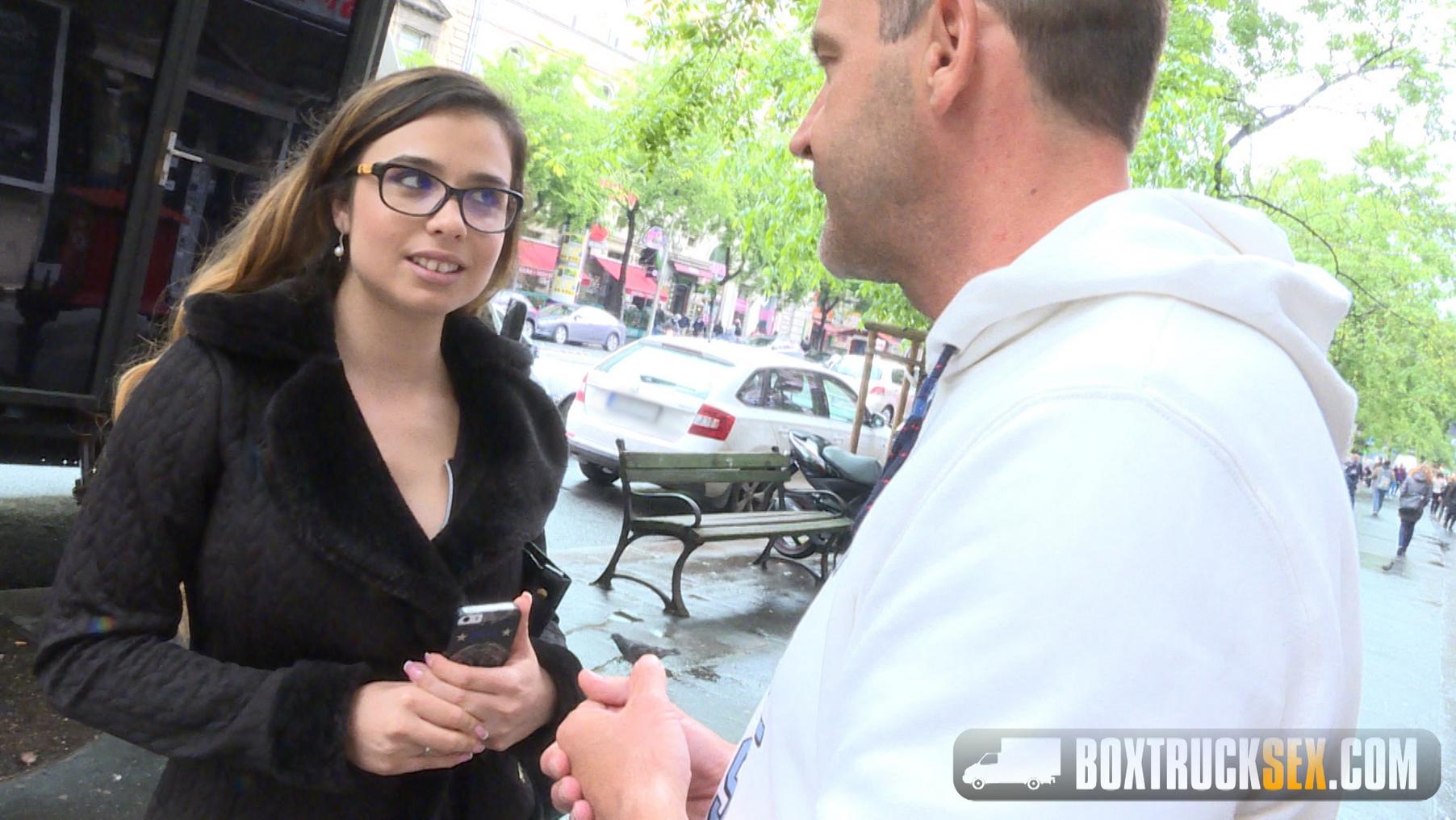 Mira Cuckold Agrees to her First Public Porn Shoot  - Sep 10, 2016 - Box Truck Sex