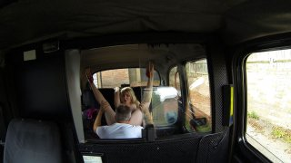 Scottish Blonde Has No Choice But To Swallow Up Cabbie's Cock - Fake Taxi