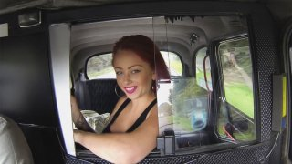 Punk Babe Shows Off Her Tattoos And Her Big Tits - Fake Taxi