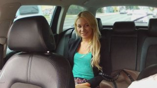 Pretty Blonde Heading To Airport Gives Cabbie Head Instead - Fake Taxi