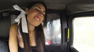 Santa Cabbie Gifts A Stiff Dick To A Horny Brunette Elf - Fake Taxi