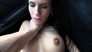 Taxi Driver Gives A Cock Discount To Busty Brunette - Fake Taxi