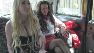 A Steamy Threesome Surprise For One Lucky Taxi Driver - Fake Taxi