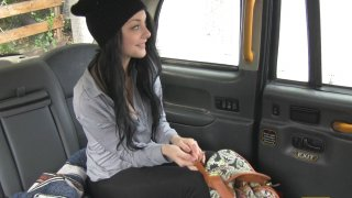 Take Two for Hot Brunette in Cab - Fake Taxi