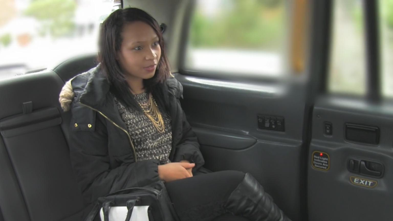 Ebony Babe Sucks Dick for Free Ride - Fake Taxi