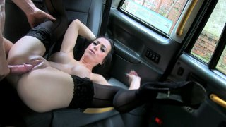 Lady With Big Tits Black Stockings - Fake Taxi