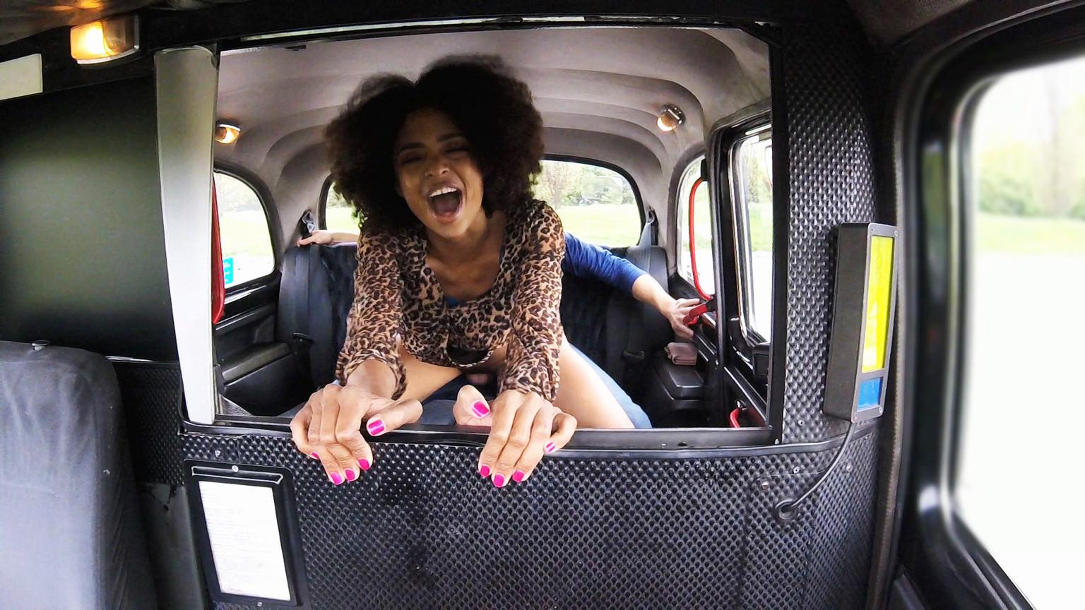 Ebony Stunner Rides Big Dick - Fake Taxi