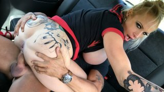 Busty dirty talking squirting MILF - Fake Taxi