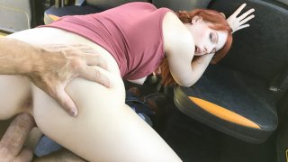 Hairy redhead pussy cum splattered - Fake Taxi