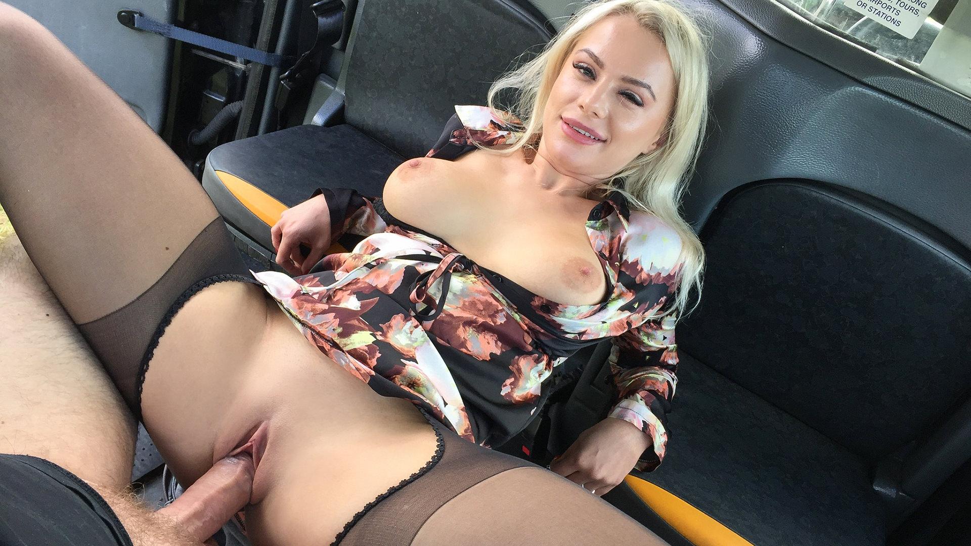 Polish blonde escort fucked - Fake Taxi