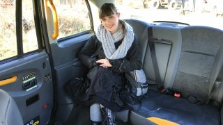 Hairy French tight pussy penetrated - Fake Taxi