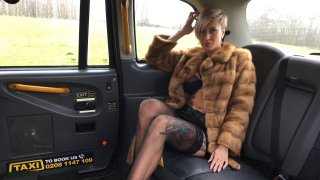 Short haired tattooed blonde fucked - Fake Taxi