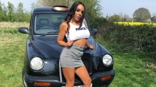 Busty babe plays the rusty trombone - Fake Taxi
