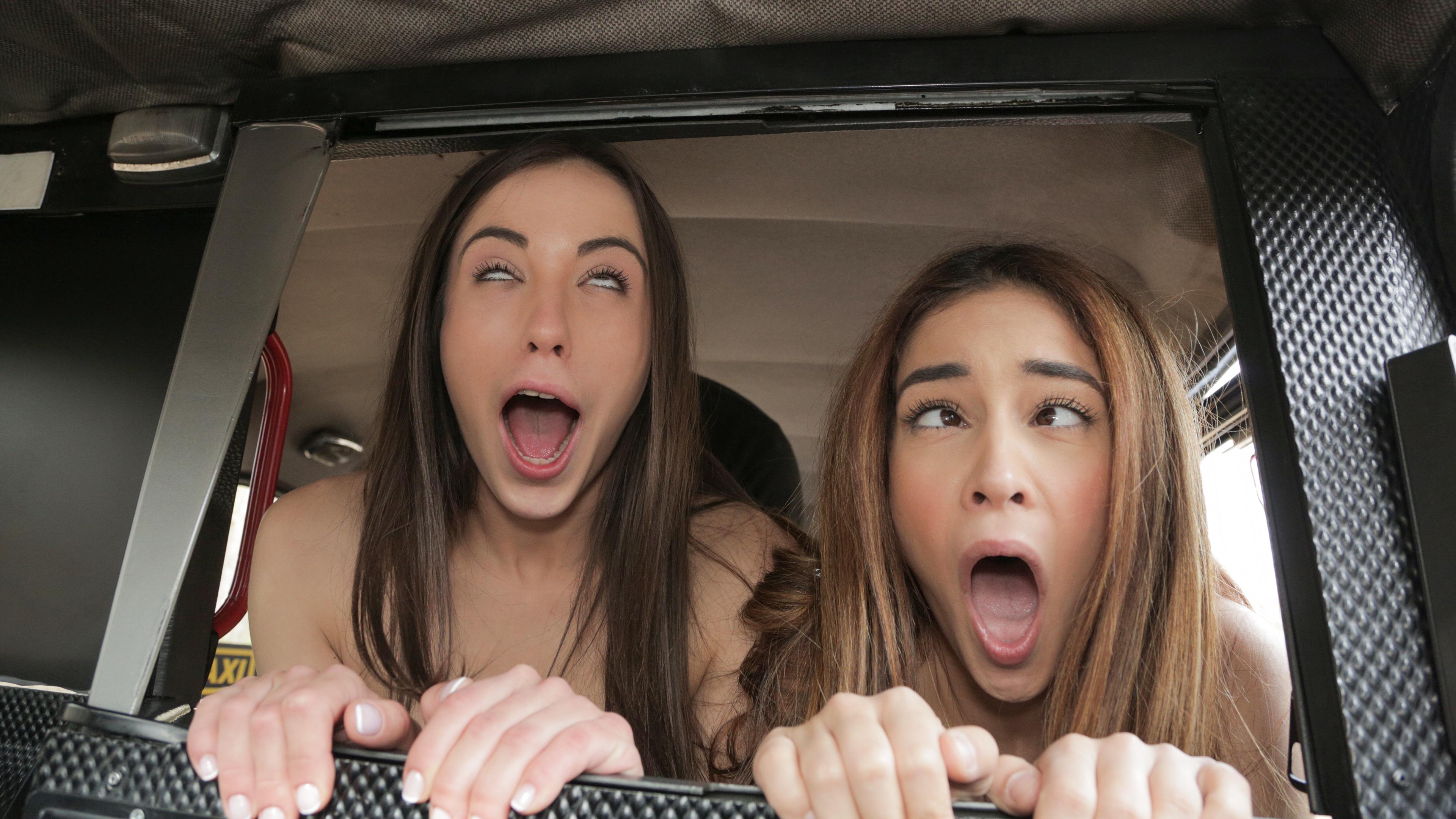 Cheeky Spanish Lesbians fuck Cabbie - Fake Taxi