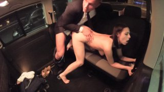 Public sex in the car with hot Czech babe leaves her cum covered and happy - Fucked in Traffic