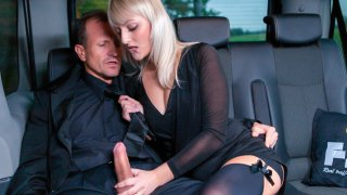 Horny blonde widow Katy Rose puts on a hot European backseat sex show - Fucked in Traffic