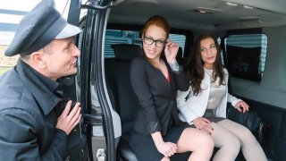 Intense backseat fuck session with gorgeous Czech babe Therese Bizzare - Fucked in Traffic