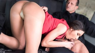 Brunette Russian beauty Nataly Gold is fucked by George Uhl in his cab - Fucked in Traffic