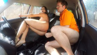 Cum hungry fiery Californian babe - Fake Driving School