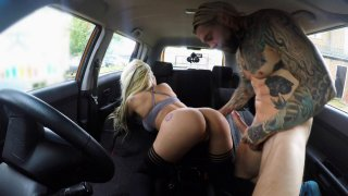 Busty blonde is cum hungry on test - Fake Driving School