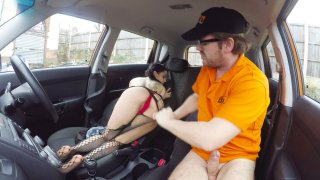 Back seat fuck for infatuated minx - Fake Driving School