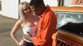 BBC stretches cheating wet pussy - Fake Driving School