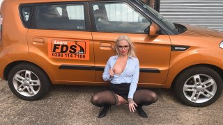 Finger blasting squirting orgasms - Fake Driving School