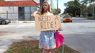 Hot Sex with a Horny Hitchhiker - Stranded Teens