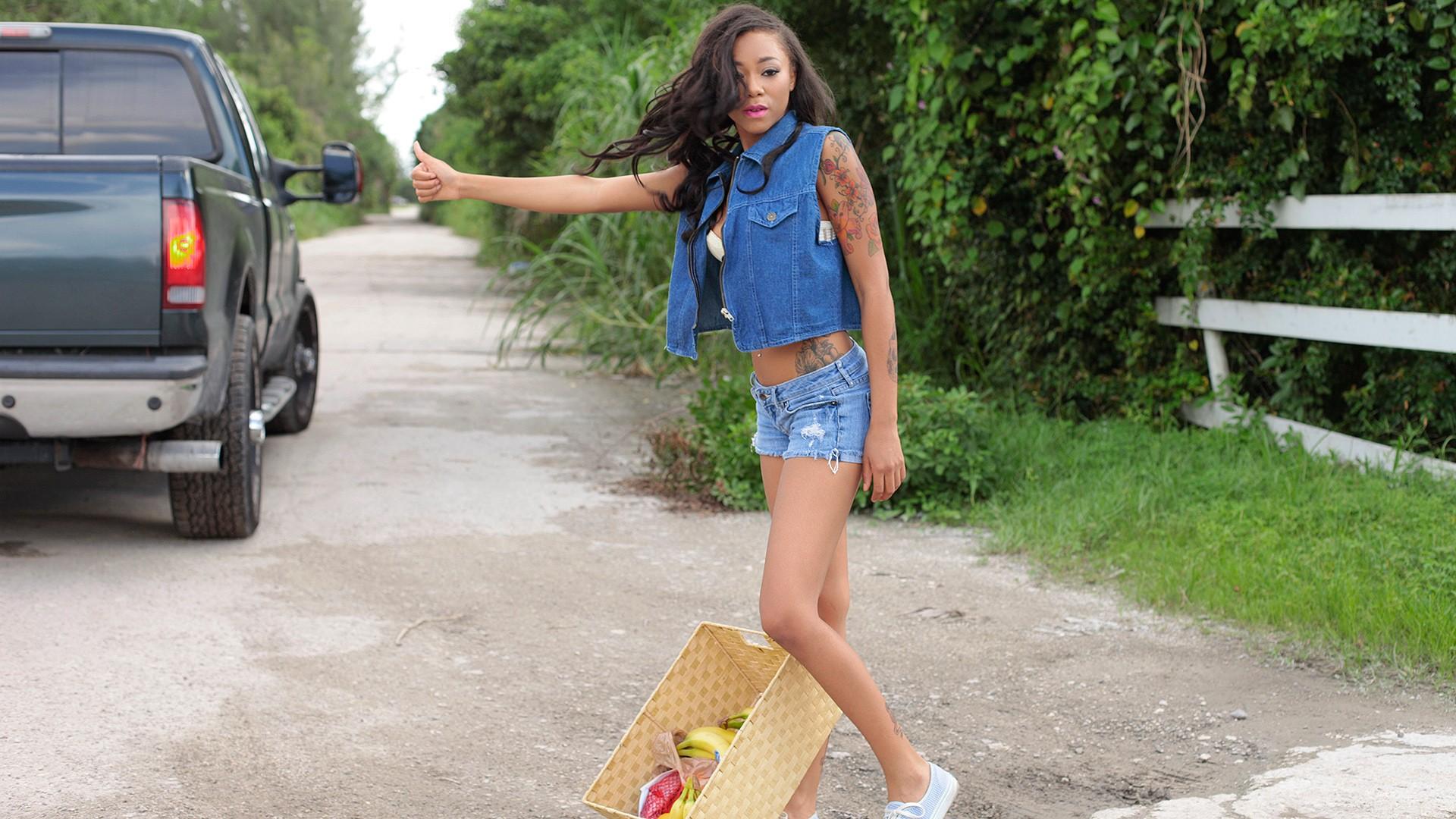 Picking Up an Ebony Teen - Stranded Teens