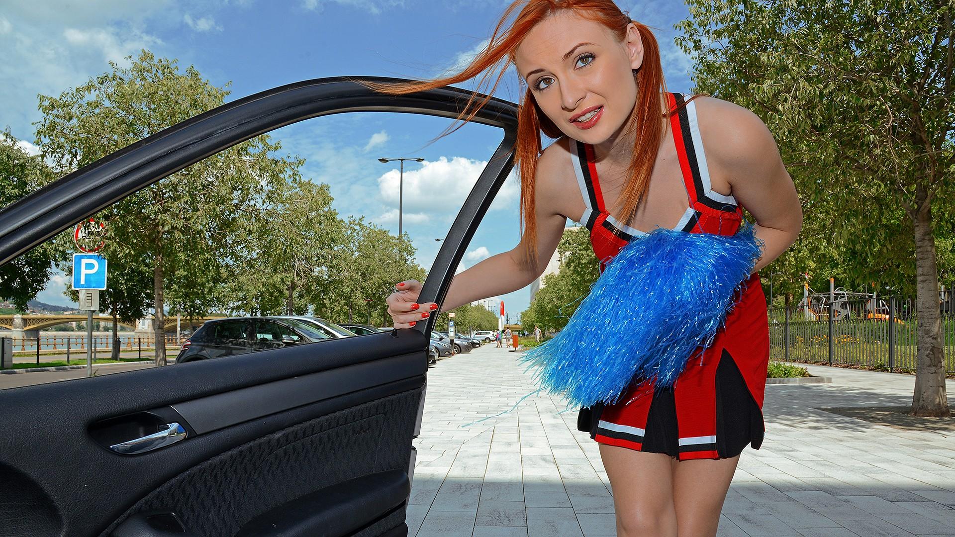Redhead Cheerleader Gets Fucked - Stranded Teens