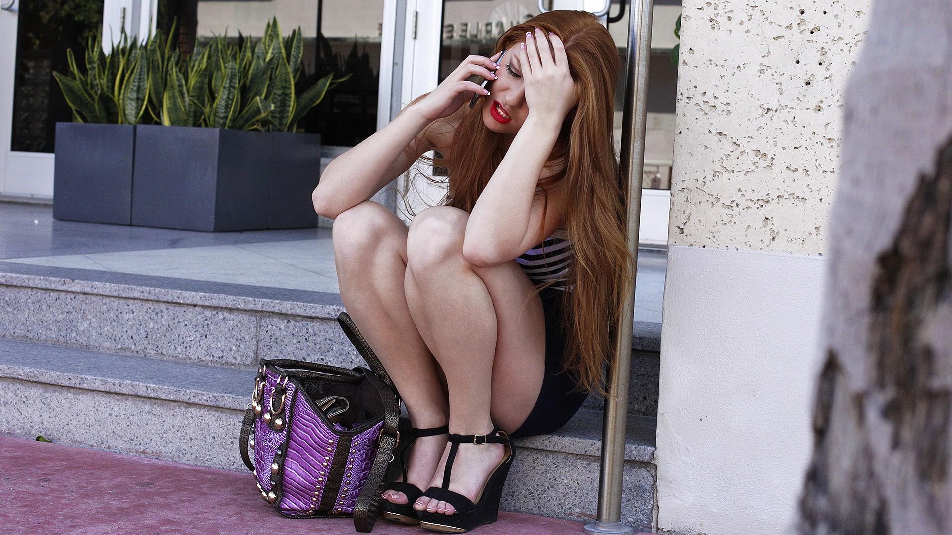 Redhead Road Head - Stranded Teens