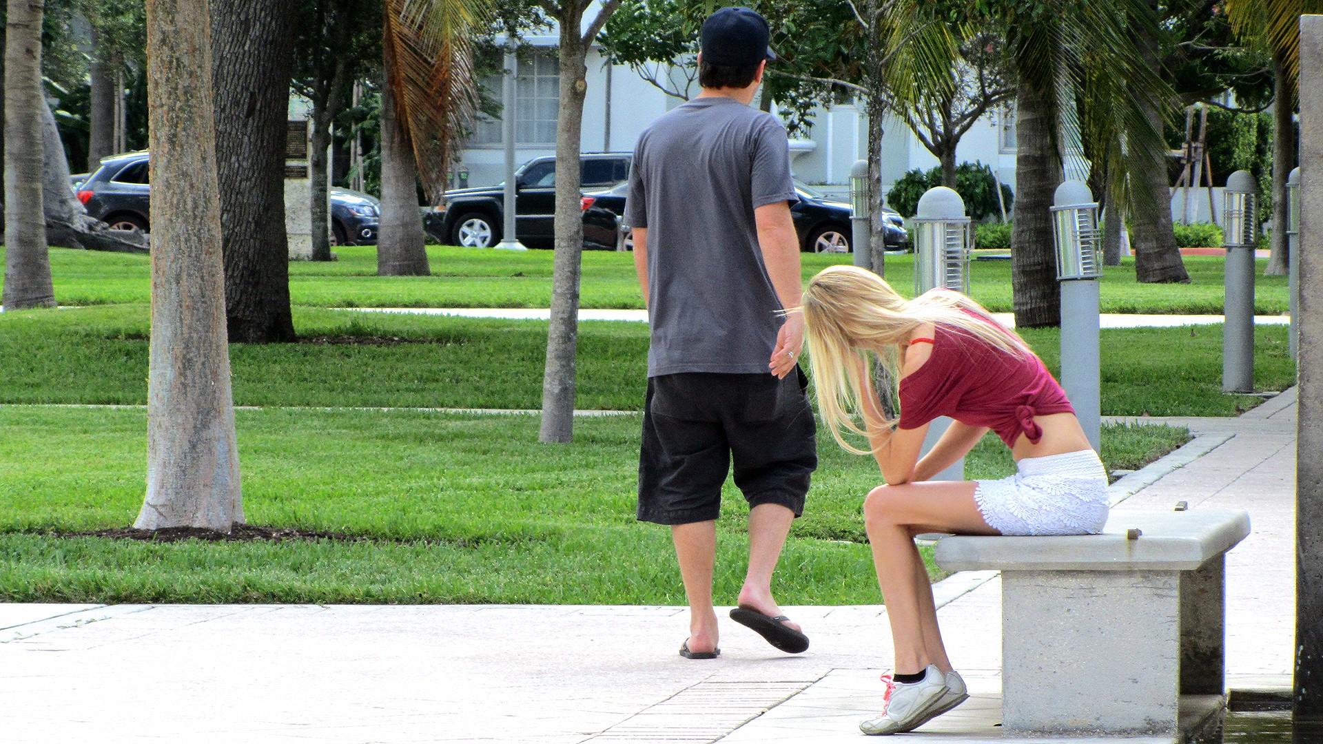 Blonde Bangs In the Back-Seat - Stranded Teens