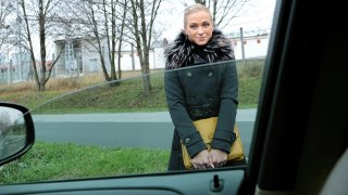 Fit Hitchhiker in Nude Stockings - Stranded Teens