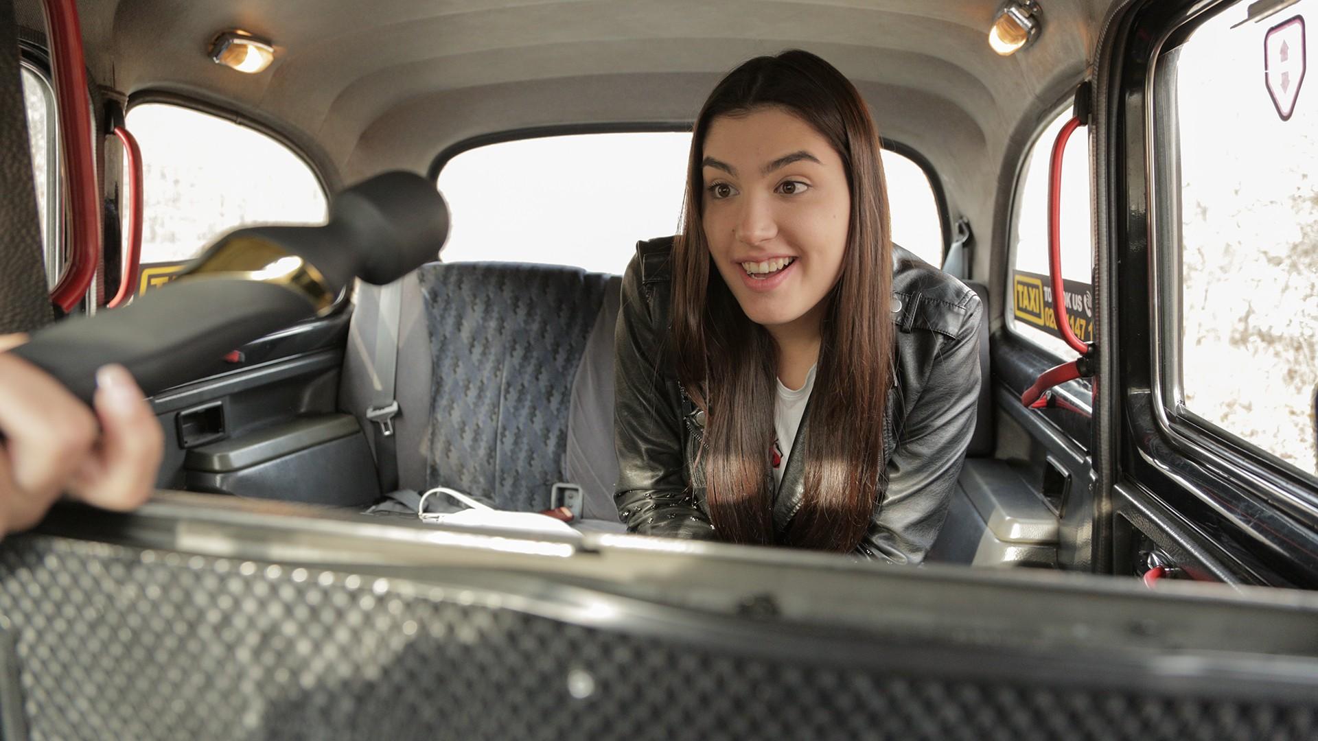 Backseat orgasm lessons - Female Fake Taxi