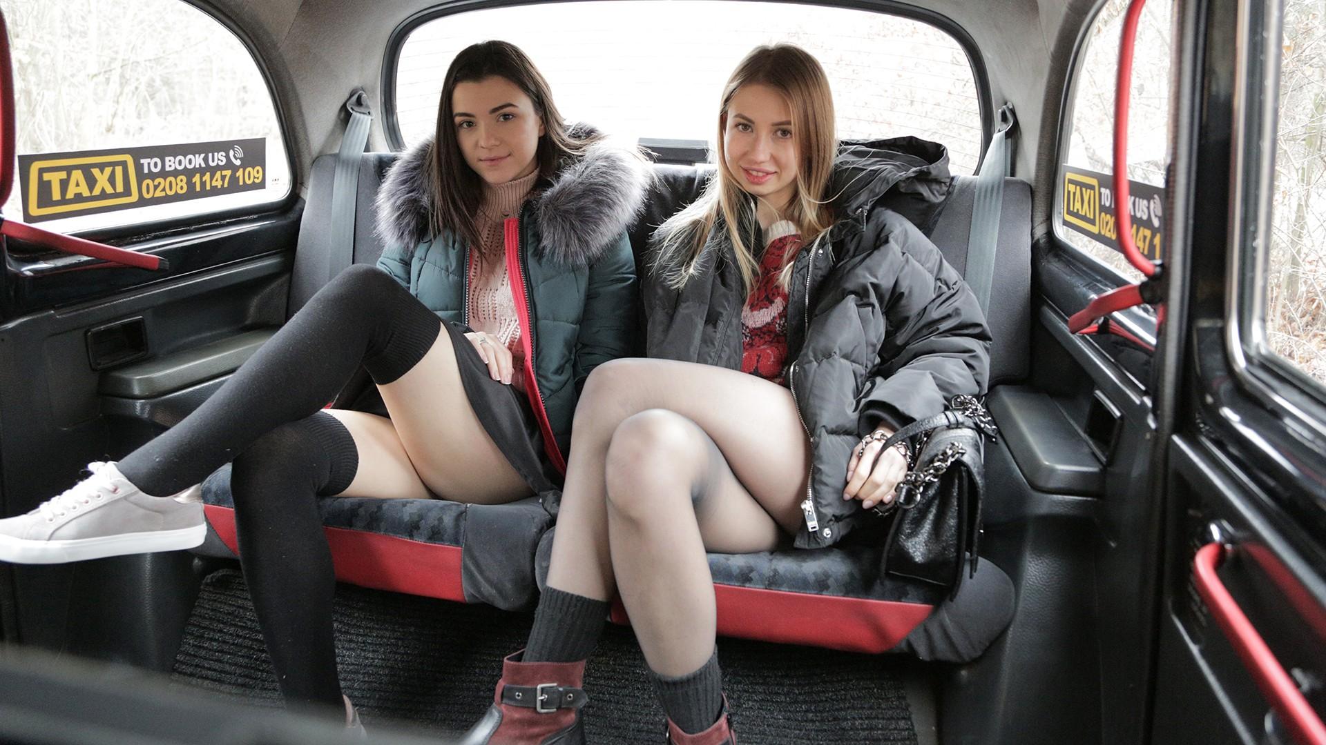 Lesbian taxi threesome wild orgasms - Female Fake Taxi