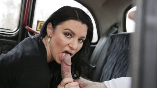 French MILF in Red Lingerie - Fake Taxi