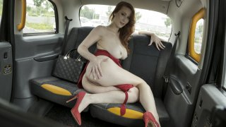 The Redhead in the Red Dress - Fake Taxi