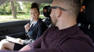 Lick My Pussy To Calm Me Down - Fake Driving School
