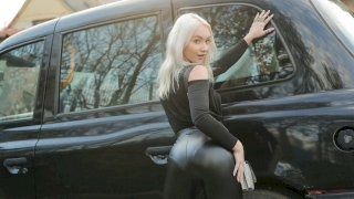 Girl In A Bag Left On Backseat - Fake Taxi