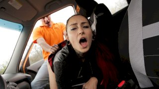 Tattoo Babe Smokes Instructors Cock - Fake Driving School